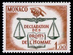 Monaco, 1964, Human Rights Declaration, United Nations, MNH, Michel 792 - Monaco