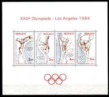 Monaco, 1984, Olympic Summer Games Los Angeles, Gymnastics, MNH, Michel Block 25 - Monaco