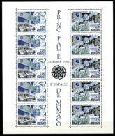 Monaco, 1991, Europa Cept, Space, MNH, Michel Block 50 - Monaco
