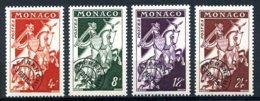 Monaco, 1954, Knights, Pre-Obliteration, Precancel, MNH, Michel 486-489 - Monaco
