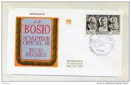 L4I015 MONACO 1968 FDC J F Bosio Trois Règnes 2,30 Monaco A 12 12 1968 - FDC