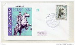 L4I014 MONACO 1968 FDC J F Bosio Louis XIV 0,60 Monaco A 12 12 1968 - FDC