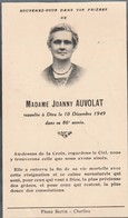 Généalogie : Faire-part Décés - Carte Mortuaire - J. AUVOLAT 1949 ( Charlieu ) - Décès