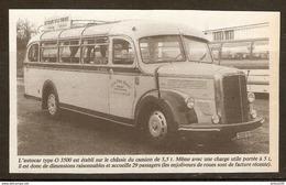 Coupure De Presse - BUS AUTOBUS AUTOCAR LES CARS ROSE TYPE O 3500 - LE TEMPS D'UN VOYAGE - Transport