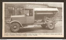 Coupure De Presse - CAMION BENNE A ORDURES SCANIA VABIS 1924 à 1929 - KONTOR - Camions