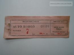 ZA157.15  Auto Rodeo -- Millenáris Pálya - Ticket  80 Ft  Hungary - Tickets - Vouchers