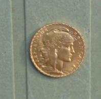 Véritable Pièce Or 20 Francs Marianne Coq 1913 En Excellent état - France