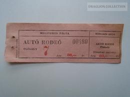 ZA157.16  Auto Rodeo -- Millenáris Pálya - Ticket  80 Ft  Hungary - Tickets - Vouchers