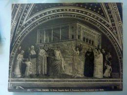 """Fotografia """"FIRENZE  S. Croce, Cappella Bardi. S. Francesco Rinunzia Ai Mondani Averi GIOTTO""""  Anni '30 - Foto"""