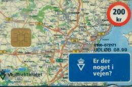Denmark Chip Cards, Map (1pcs) - Denmark