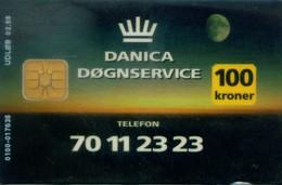 Denmark Chip Cards, Bank (1pcs) - Danimarca