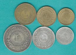 Yemen - Arab Republic - AH1382 (1963) ½, 1, 2, 5, 10 & 20 Buqsha (KMYs26-30 & KMYA27) - Yémen