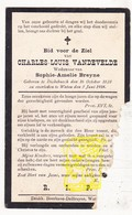 DP Charles L. VandeVelde ° Dikkebus Ieper 1828 † Watou Poperinge 1914 X Sophia A. Breyne - Images Religieuses
