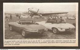 Coupure De Presse - OLD CAR VIEILLE VOITURE CABRIOLET JAGUAR TYPE E SÉRIE 1 Et 2 - AVION DOUGLAS DC 3 - - Cars
