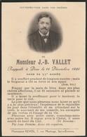 Généalogie : Faire-part Décés - Carte Mortuaire - J.-b. VALLET - 1926 - St- étienne : Loire - Décès