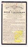 DP René Timperman ° Dikkebus Ieper 1879 † 1933 X Herminie Billiau - Images Religieuses