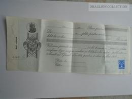 ZA157.18 Payment Order Romania Bucuresti  1929  2300 LEI - Tax Stamps  Revenue - Chèques & Chèques De Voyage