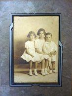 """Fotografia  Albumina Con Custodia  """"GRUPPO DI BAMBINI - WOODSON PHOTGRAPHER"""" Sacramento , USA 1930 - Persone Anonimi"""