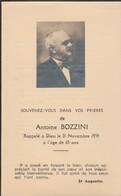 Généalogie : Faire-part Décés - Carte Mortuaire - A. BOZZINI - 1939  - Lyon : Rhone - Décès