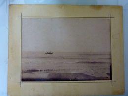 """Fotografia  Albumina """"MARE CON BARCA DI PESCATORI"""" 1870 - 1880 - Foto"""