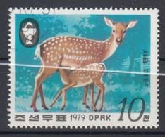 NORTH KOREA 1979. SCOTT 1859. SIKA DEER. DOE AND SUCKLING FAWN - Corea Del Nord
