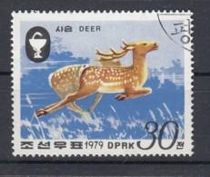 NORTH KOREA 1979. SCOTT 1862. SIKA DEER. DEAR RUNNING - Corea Del Nord