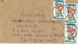 "Nigeria 1989 - Lettre Adresséev Au UNHCR ""refugees"" à Genève, Suisse - Sc 493 X 3 - Nigeria (1961-...)"