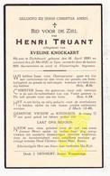 DP Henri Truant ° Dikkebus 1883 † Ieper 1937 X Eveline Knockaert - Images Religieuses