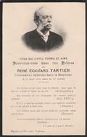Généalogie : Faire-part Décés - Carte Mortuaire - R.-e. TARTIER - 1919  - Valence : Drome - Décès