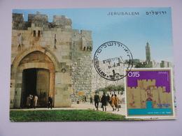 CARTE MAXIMUM CARD PORTE DE JAFFA JERUSALEM ISRAEL - Architecture