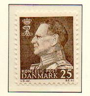 PIA - DANIMARCA -1963-65 : Uso Corrente - Re  Federico  IX°   - (Yv 420a) - Danimarca