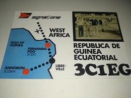 Postal, Postcard, Radio  - Republica De Guinea Ecuatorial , - Radio Amateur