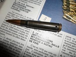 CARTOUCHE 7.92 SEMI PERFO 1943 - Armes Neutralisées