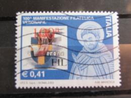 *ITALIA* USATI 2003 - 100^ MANIFESTAZIONE VERONAFIL - SASSONE 2691 - LUSSO/FIOR DI STAMPA - 6. 1946-.. Repubblica