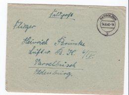 German Feldpost WW2: To Luftwaffen Bau Kompanie 6/IV In Varrelbusek, Oldenburg P/m Garbolzum 14.6.1940 - Militaria