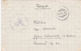 German Feldpost WW2: Luftwaffen Bau Kompanie 13/IV At Fliegerhorst Uetersen P/m 31.10.1939 - Letter - Militaria