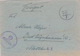 German Feldpost WW2: 3. Nachtjagerschule 1 At Fliegerhorst Echterdingen Near Stuttgart P/m 15.12.1942 - Letter - Militaria