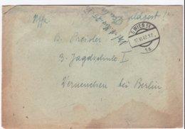 German Feldpost WW2: To 3./Nachtjagdschule 1 At Flugplatz Werneuchen Near Berlin P/m Wien 20.6.1942 - Letter Inside - Militaria