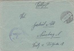 German Feldpost WW2: Flugzeugführerschule A/B 9 P/m Falkenau (Schles) 8.2.1942 - Letter Inside  (G88-41) - Militaria