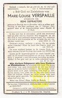 DP Marie L. Verspaille ° Deerlijk 1872 † 1945 X Remi DePraetere / Christiaens Malfait - Images Religieuses