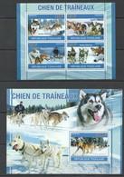 D078 2010 TOGO TOGOLAISE DOGS HUSKY SIBERIEN CHIEN DE TRAINEAUX 1KB+1BL MNH - Chiens