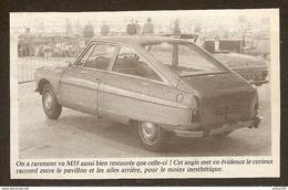 Coupure De Presse - CITROEN M 35 M35 MOTEUR A PISTON ROTATIF - AMI 8 - Cars