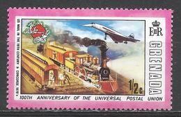 Grenada 1974. Scott #562 (M) UPU Emblem & US Mail Train, And Concorde * - Grenade (1974-...)