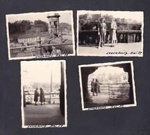 Photo Originale Vintage Snapshot Lot De 4  Luxembourg  Mai 1958 Femme - Lieux
