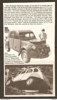 Coupure De Presse - CITROEN 2 CV SAHARA TRANSMISSIION INTÉGRALE - Cars
