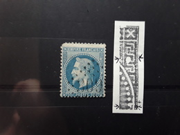 Empire Lauré No 29 VARIETE DOUBLE TACHE BLANCHE Obl GC 3095 De LA RECOUSSE Pas De Calais,  Btb - 1863-1870 Napoleon III With Laurels