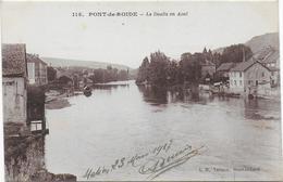 CPA - PONT DE ROIDE - LE DOUBS EN AVAL - 1917 - France