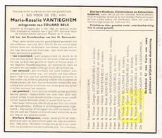DP Marie R. VanTieghem ° Waregem 1865 † Aalbeke Kortrijk 1947 X Ed. Bels / Cottenier Schotte LeGley Leman Debels Derdeyn - Images Religieuses