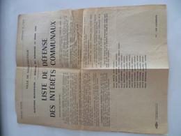 89- YONNE- SAINT SAUVEUR EN PUISAYE- Liste De Défense Des Intérêts Communaux, élections Municipales 1965 - Affiches