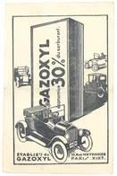 Cpa  Pub Gazoxyl ( économise Carburant, Automobile, Tacot - Rue Manin, Paris 19e )   ( état ) - Publicité